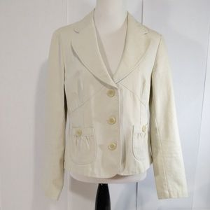 APT.9 Women Top Cream Short Suit Blazer Size 14